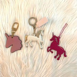 Kate spade coach Unicorn keychain bundle